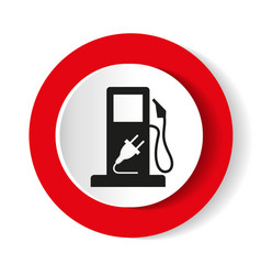 gasoline pump nozzle signgas station icon flat vector image
