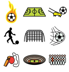 logo icons soccer vector image