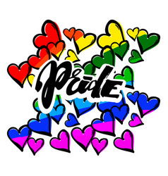 Gay pride rainbow colored hearts pattern vector