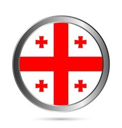 Georgia flag button vector