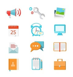 Set of flat colorful icons vector image