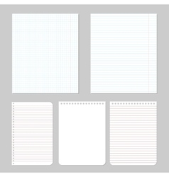 Different notebook paper vector