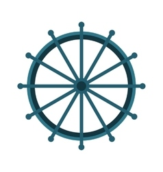 Yacht or sheep wheel rudder flat style vector
