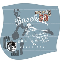 base ball aja vector image