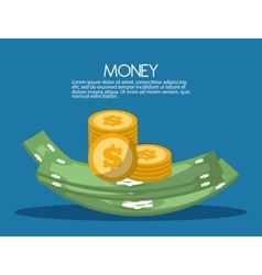 Bills and coins icon design vector