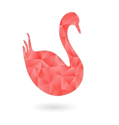 The swan filled with polygonal pattern vector