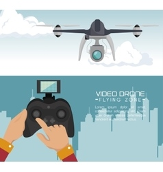 Video drone technology isolated icon design vector