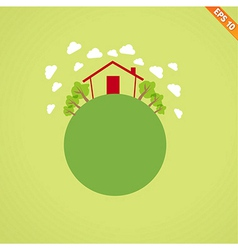 Abstract globe with environmental concept - illus vector