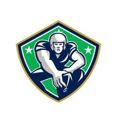 American football center snap front shield vector
