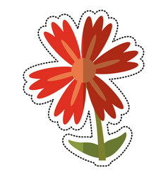 Cartoon lily flower natural vector