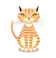 Cartoon red cat vector image