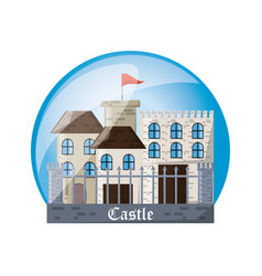 castle inside sphere design vector image vector image