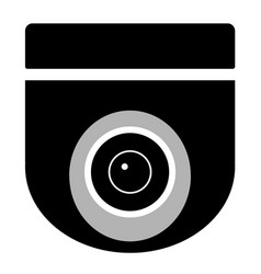 Cctv camera on white background cctv sign vector