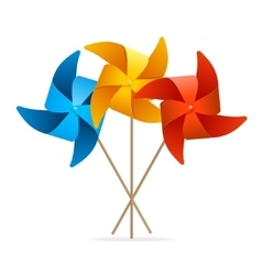 Colorful Windmill Set vector image vector image