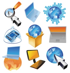 Concept for computer business vector image vector image