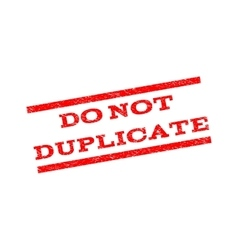 Do not duplicate watermark stamp vector