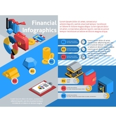 Financial infographics isometric vector