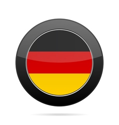Flag of germany shiny black round button vector