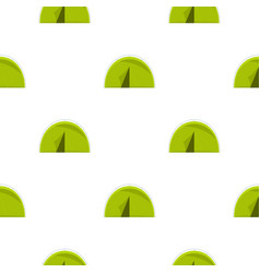 Green touristic camping tent pattern flat vector