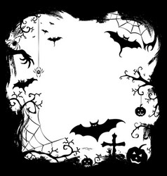 halloween styled frame design vector image