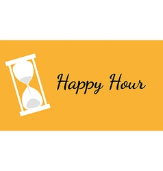 happy hour background with clock vector image vector image