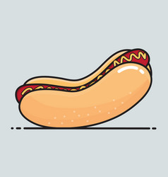 Hot dog cartoon vector