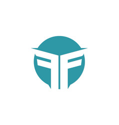 Letter f abstract company logo vector
