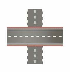 Multilevel road intersection of freeways icon vector