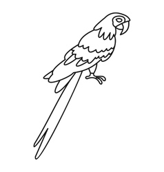Parrot icon simple style vector