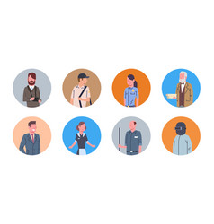 People group different occupation icons set vector
