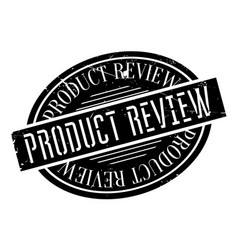 product review rubber stamp vector image vector image