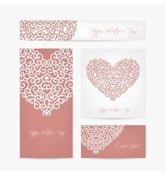Set of valentine cards for your design vector image
