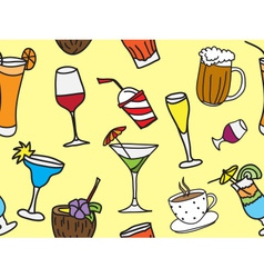 Some kinds of drinks and coctails vector image