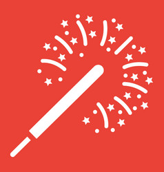 sparkler glyph icon new year and christmas vector image
