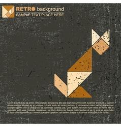 Tangram cat vector image vector image