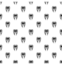Tooth nerve pattern simple style vector