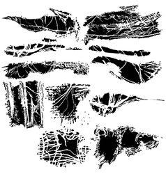 Torn cloth vector image vector image