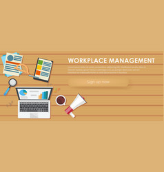 Workplace management banner vector