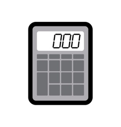 Calculator instrument school office icon vector