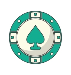 Isolated chip of casino design vector