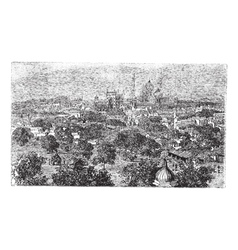 Delhi in india vintage engraving vector