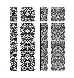 abstract lace ribbon seamless pattern template vector image