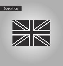 Black and white style icon britain flag vector