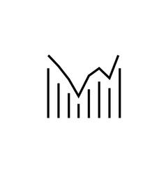 Combo chart icon vector