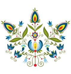 Polish folk with ornamental floral vector