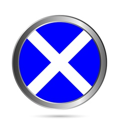 Scotland flag button vector