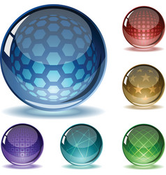 Spheres set vector