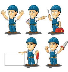 Technician or repairman mascot 2 vector