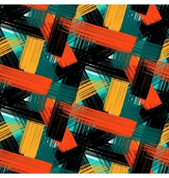 seamless bold plaid pattern vector image