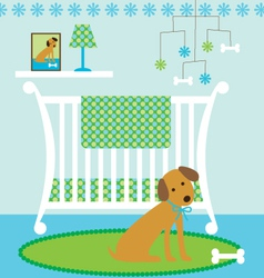 Dog nursery vector